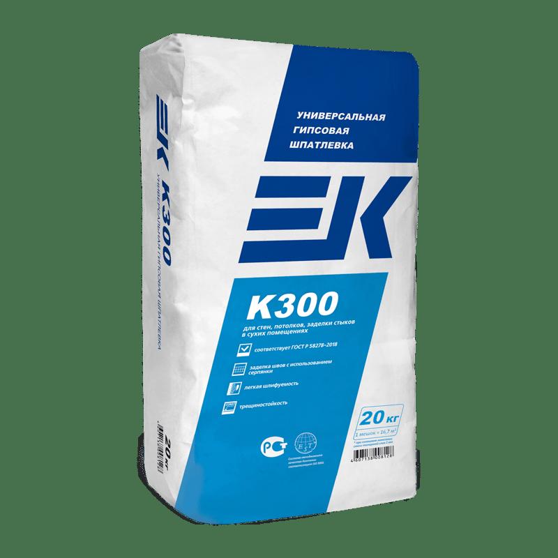 EK К300 шпатлевка гипсовая (20кг.)
